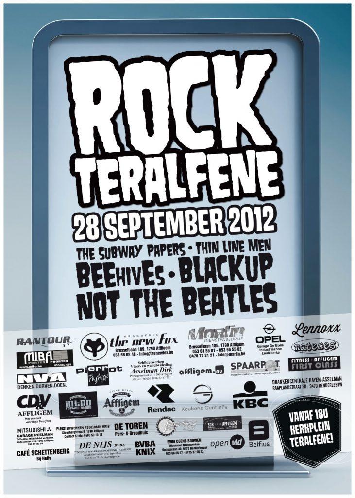 Affiche Rock Teralfene 2012